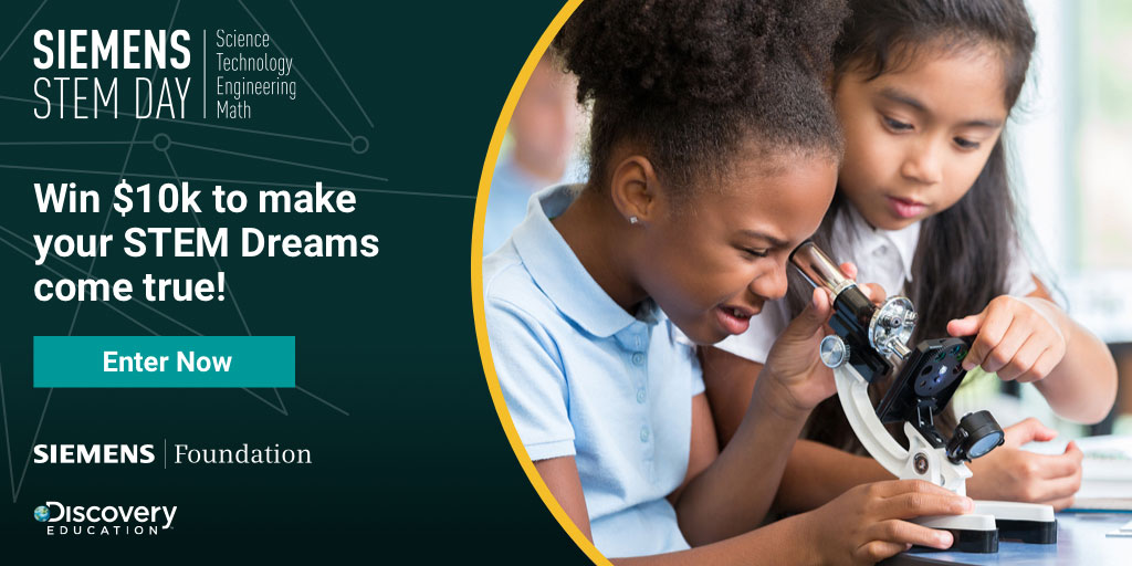Siemens Foundation and Discovery Education Announce  2019 Possibility Grant Sweepstakes