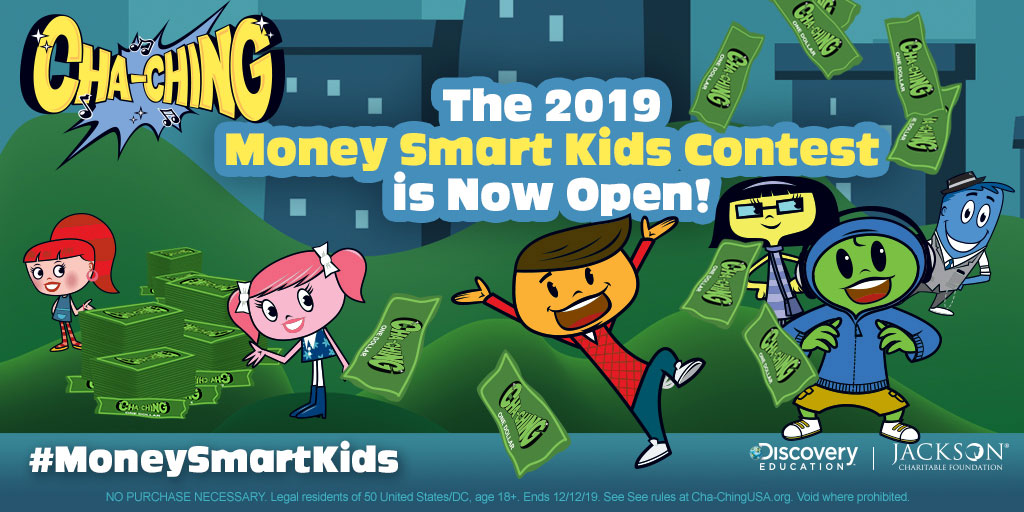 """Jackson Charitable Foundation and Discovery Education Launch Third Annual """"Cha-Ching Money Smart Kids Contest"""" to Encourage K-6 Grade Students to Become Financially Empowered Adults"""