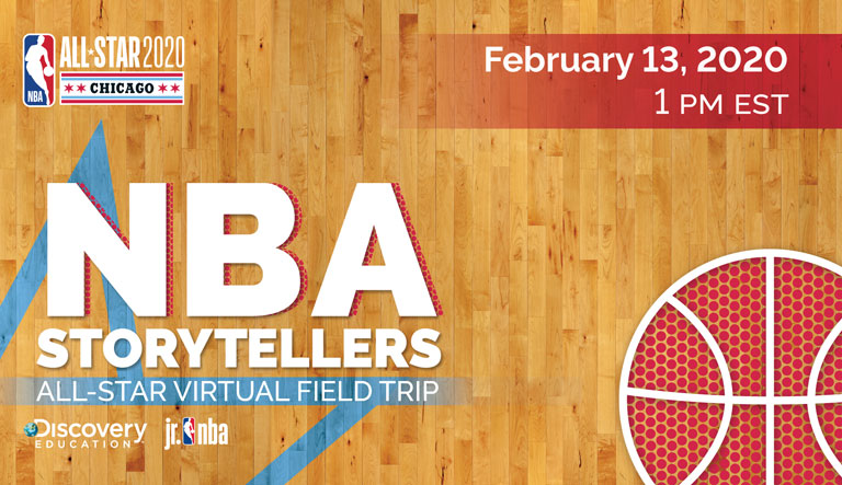 NBA and Discovery Education Invite Educators and Students Nationwide to NBA Storytellers: An All-Star Virtual Field Trip