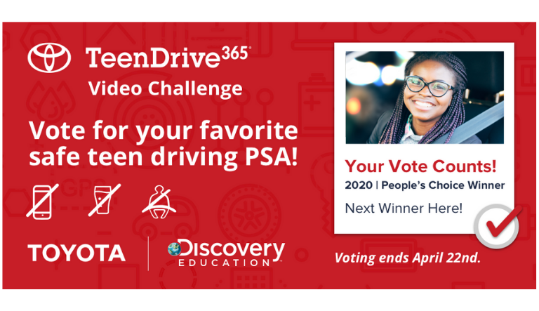 Top 10 Finalists Announced by Toyota and Discovery Education in the 2020 TeenDrive365 Video Challenge