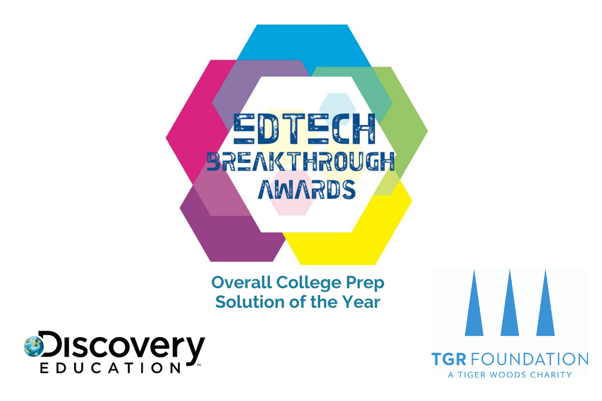 TGR Foundation and Discovery Education Honored with 2021 EdTech Breakthrough Award for College Preparatory Initiative
