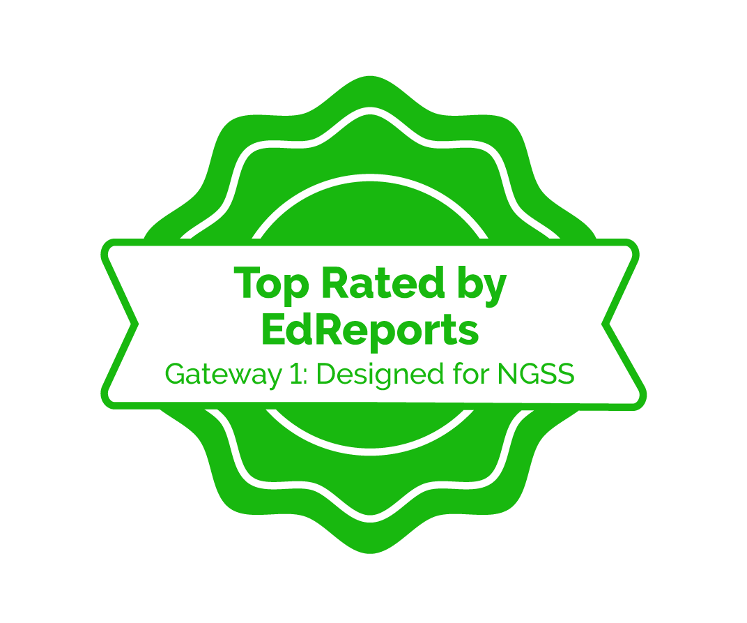 Middle School Science receives EdReports Top Rating for Gateway 1: Designed for NGSS
